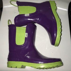 Toms mid calf rain boots size 6 US excellent